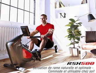Test rameur d'appartement SportsTech RSX500