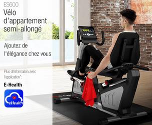 Vélo d'appartement sportstech ES600 avis